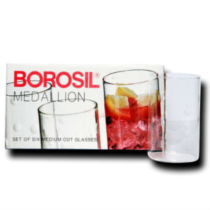BOROSIL GLASS MEDIUM PK6