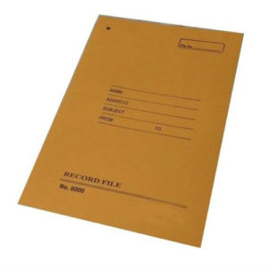 FILE COVER RECORD FILE