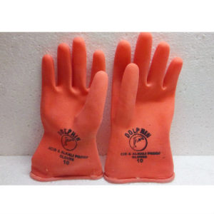 RUBBER GLOVES PAIR - RED