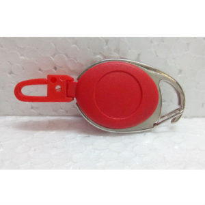 YO YO OVAL RETRACTABLE CLIP RED