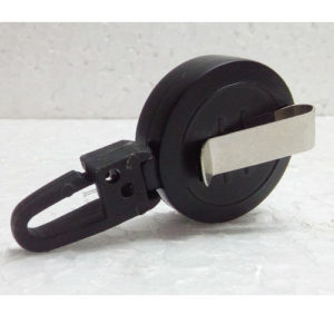 YO YO ROUND RETRACTABLE CLIP BLACK