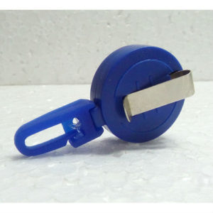 YO YO ROUND RETRACTABLE CLIP BLUE