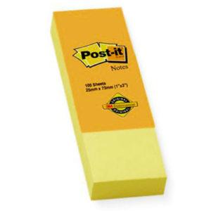 3M POST-IT 1-3 PAD YELLOW (100 SHEETS)