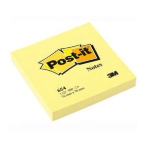 3M POST-IT 3X3 PAD YELLOW (100 SHEETS)