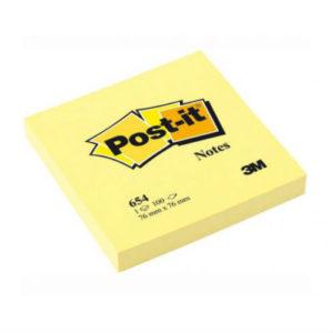 3M POST-IT 3X3 PAD YELLOW (100 SHEETS)