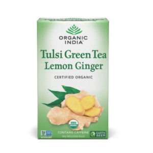 ORGANIC INDIA TULSI GREEN TEA LEMON & GINGER PK 18