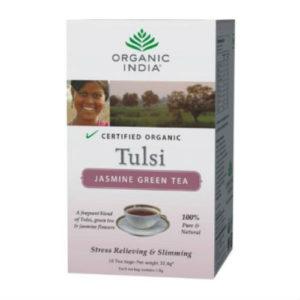 ORGANIC INDIA TULSI JASMINE GREEN TEA BAGS PK 18