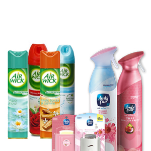 AIR FRESHNERS, SPRAYS, FRAGRANTS & DIFFUSERS