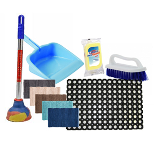 WIPERS, MOPS, DUSTERS, BRUSHES & MATS