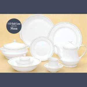 110 GOLD LINE DINNER SET MONA