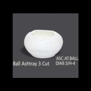 BALL ASHTRAY 3 CUT