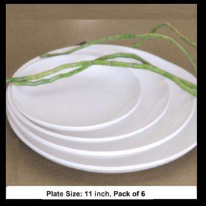 BONE CHINA URMI COUPE PLATE 11 INCH