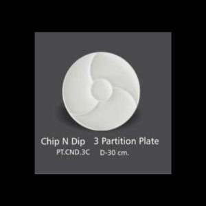 CHIP N DIP 3 PARTITION PLATE