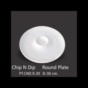 CHIP N DIP ROUND PLATE