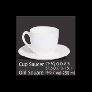 CUP SAUCER OLD SQUARE
