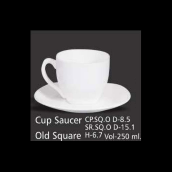 BONE CHINA CUP SAUCER OLD SQUARE PACK-6 - Stationery items wholesale  supplier in Gurgaon & Delhi NCR