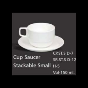 CUP SAUCER STACKABLE SMALL