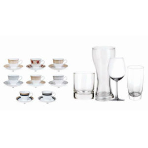 CUP SAUCERS & GLASSES