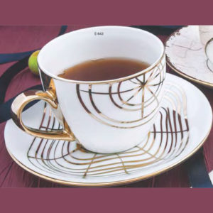 EBONY SERIES CUP SAUCER CREAM E643
