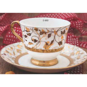 EBONY SERIES CUP SAUCER GEORGIAN E693