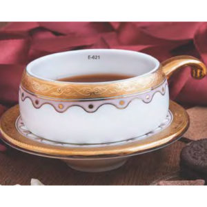 EBONY SERIES CUP SAUCER LILLYPUT E621