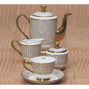 EBONY SERIES TEA SET GEORGIAN E684