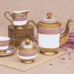 EBONY SERIES TEA SET GEORGIAN E689