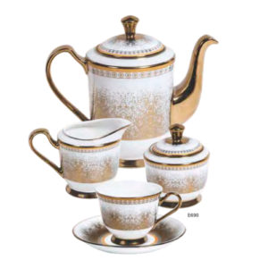 EBONY SERIES TEA SET GEORGIAN E690