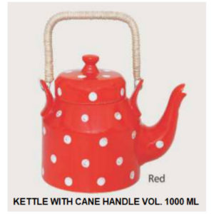 KETTLE WITH CANE HANDLE VOL. 1000 ML RED