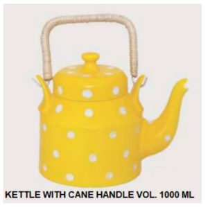 KETTLE WITH CANE HANDLE VOL. 1000 ML YELLOW