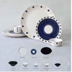 MELAMINE NORDIC DAISY DINNER SET 40 PCS