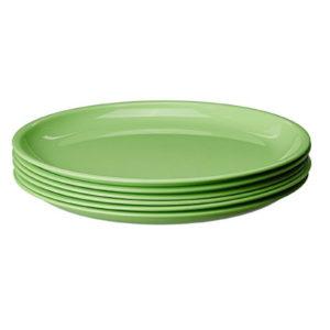 SIGNORA MELAMINE PLATE GREEN PACK-6