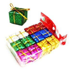 COLOURED GIFTS BOX 1'' PK 12