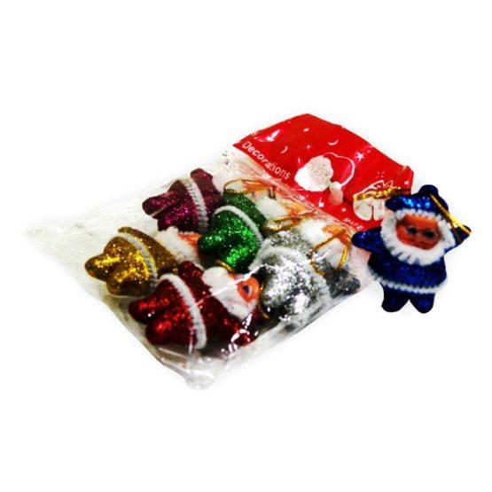 Hanging Little Glitter Santa Pk 6 Stationery Items