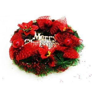 MERRY CHRISTMAS WREATH 10''