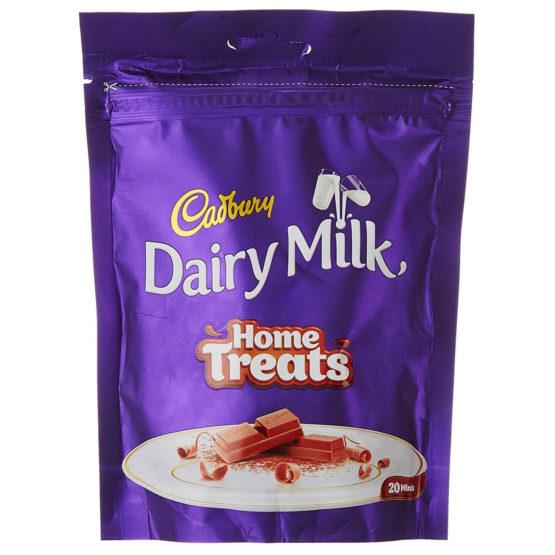 Cadbury Dairy Milk Home Treats 140 Grams Pk 20