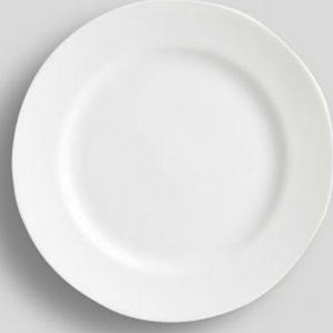 CC BONECHINA WHITE PLATE ROUND GORGON 10.5 INCH (1)